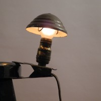lampe d'atelier industriel vintage ancienne workshop lamp mini pince